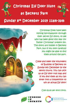 Christmas Elf Door Hunt @ Beckets Park