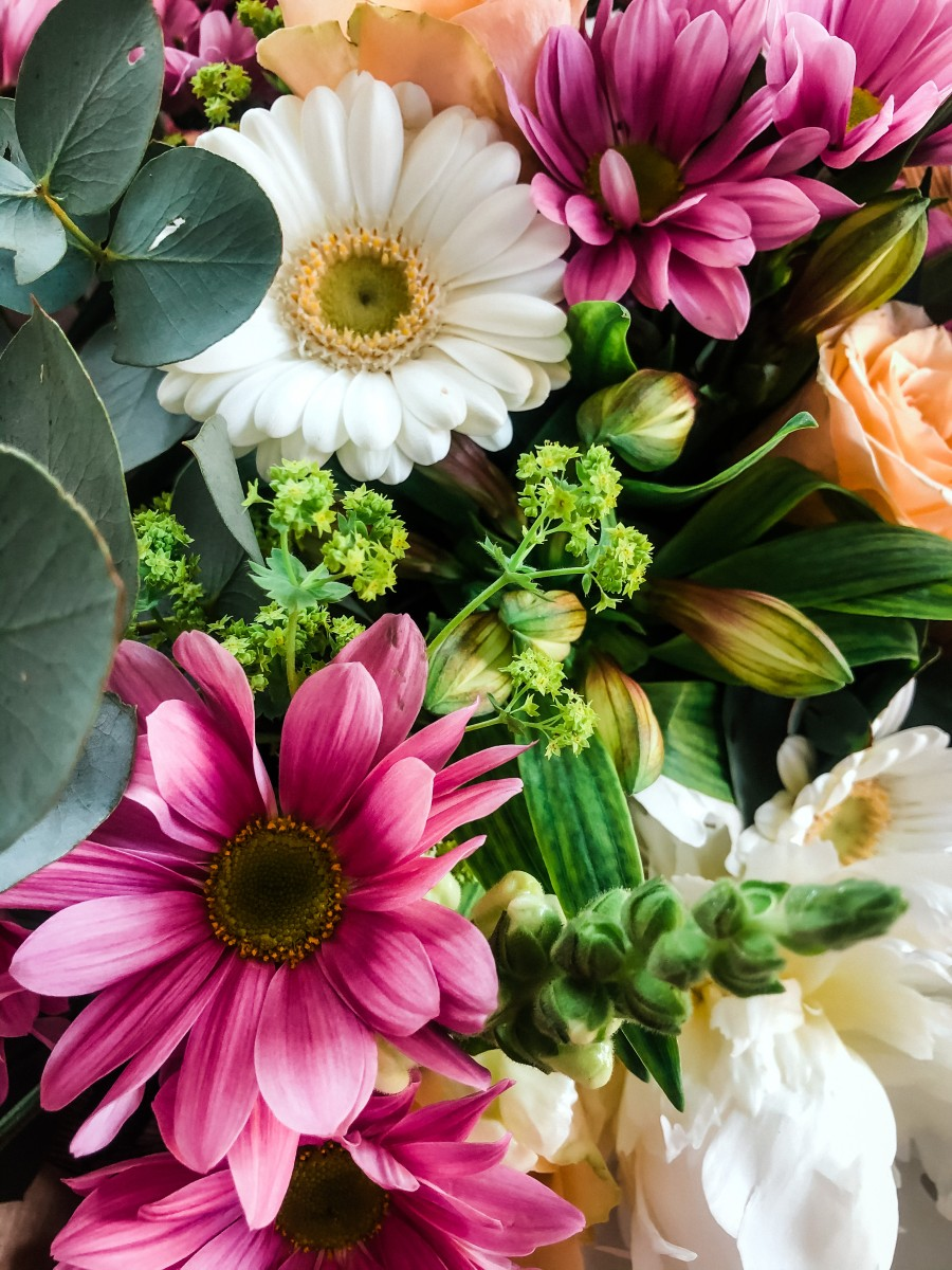 A bunch of colourful spring flowers by Wilder Floral Designs