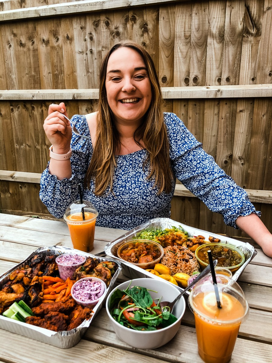 Nicole with Potterspury House takeaway
