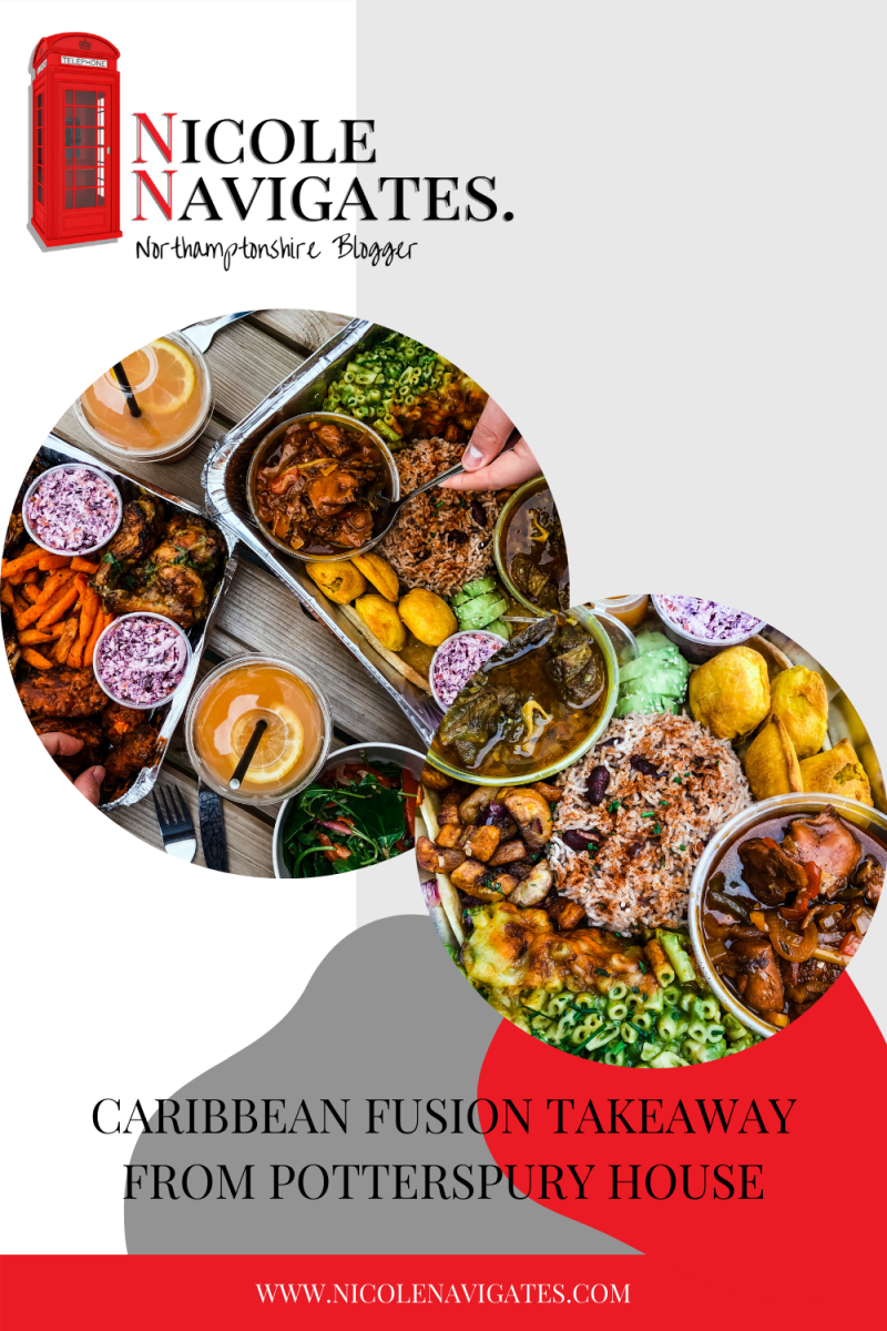 Caribbean Fusion Takeaway from Potterspury House pinterest pin