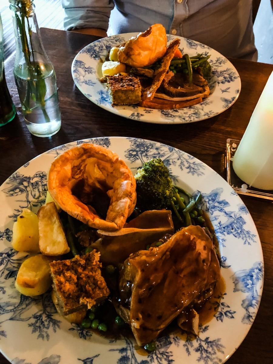 Indoor dining in Northamptonshire roast dinner