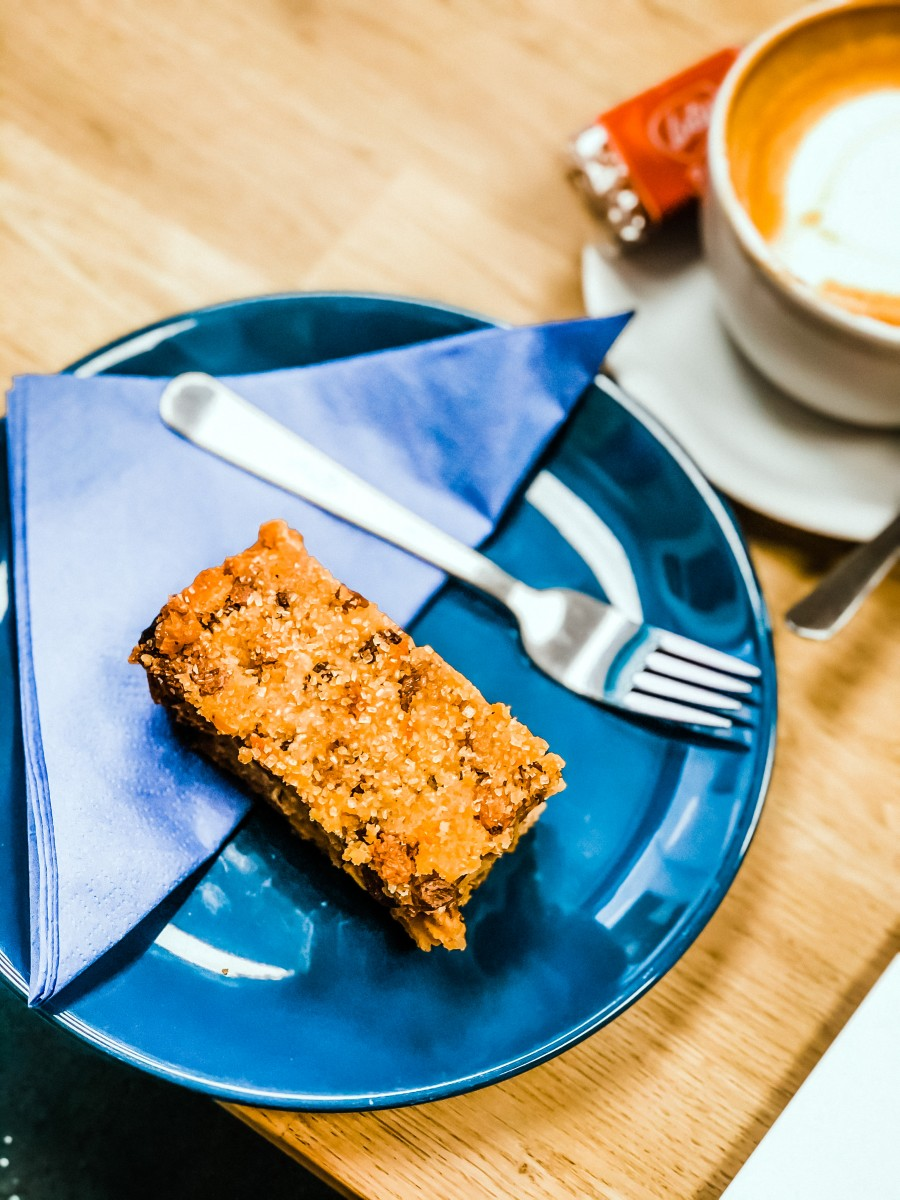 Indoor dining cake and coffee Northamptonshire
